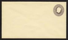 U223 UPSS # 493-6 5c Brown on Amber, Mint Entire