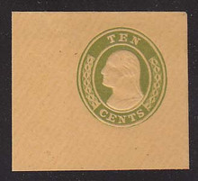 U18a 10c Yellow Green on Buff, die 2, Mint Full Corner, 50 x 45
