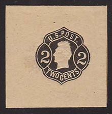 W51 2c Black on Buff, die 3, Mint Full Corner, 45 x 45