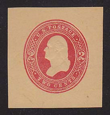 W287 2c Red on Manila, die 1, Mint Cut Square, 40 x 41
