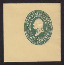 U306 2c Green on Amber, die 1, Mint Full Corner, 50 x 50