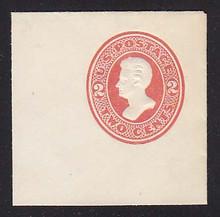 U142 2c Vermillion on White, die 5, Mint Full Corner, 50 x 50