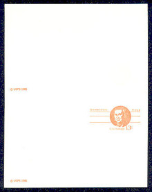 UY34b UPSS# MR44b 13c Robert Morris, Extra Copyright Mint UNFOLDED