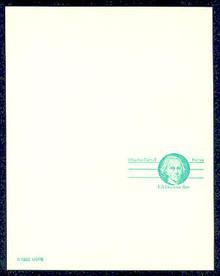 UY35 UPSS# MR45 (14c) Charles Carroll Mint UNFOLDED