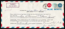 UPSS # AMO-2-49 11c Red & Blue Test Envelope Official Use, Used Entire