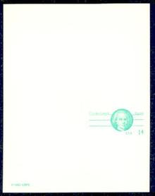 UY36 UPSS# MR46 14c Charles Carroll Mint UNFOLDED