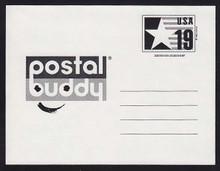 CVUX3, UPSS #PB3b2 19c Postal Buddy, Type C Backside, Mint Postal Card