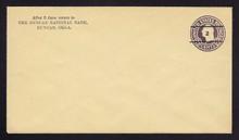 U476, UPSS #3018-19 2c on 3c Dark Violet on Amber, Die 1, Mint Entire