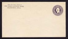 U477, UPSS #3020-20 2c on 3c Dark Violet on White, die 1, Mint Entire