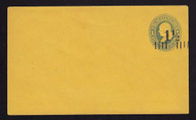 U116, UPSS #279-6 with 1 1/2c Type 8 FAVOR Surcharge, Mint Entire