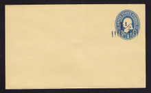 U296, UPSS #884-8 with 1 1/2c Type 8 FAVOR Surcharge, Mint Entire