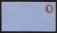 U280 UPSS# 821-6 2c Brown on Blue, die 1, Mint Entire
