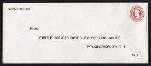 UO23 UPSS# WD14 6c Dark Red on White, Mint Entire, Printed Address