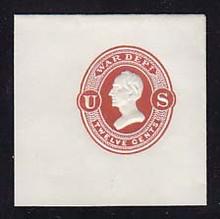 UO26 12c Dark Red on White, Mint Full Corner, 50 x 50