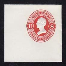 UO40 12c Vermillion on White, Mint Full Corner, 50 x 50