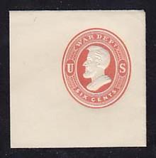 UO56 6c Red on White, Mint Full Corner, 50 x 50