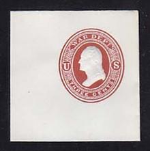 UO20 3c Dark Red on White, Mint Full Corner, 50 x 50