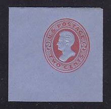 U151 2c Vermillion on Blue, die 6, Mint Full Corner, 50 x 50