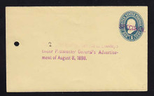 U296, UPSS # 884-12 Entire, Specimen Form 42