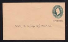 U313, UPSS # 969-8 Entire, Specimen Form 39