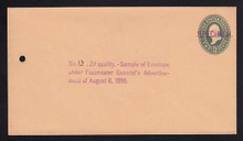 U313, UPSS # 976-12 Entire, Specimen Form 42