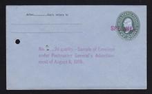 U314, UPSS # 984-12 Entire, Specimen Form 42