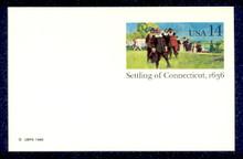 UX109 UPSS# S126 14c Connecticut Mint Postal Card