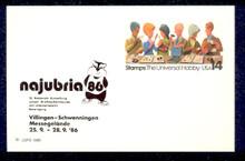 UX110 UPSS# S127b 14c Stamp Collecting, NAJUBRIA '86 overprint, Mint Postal Card