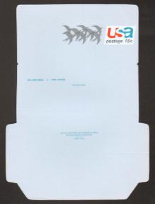 UC44, UPSS #ALS-11a 15c Birds, UNFOLDED, Reverse Die Cut