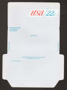 UC50, UPSS #ALS-16a 22c USA, UNFOLDED, Reverse Die Cut