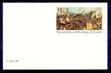 UX114 UPSS# S131 14c National Guard Mint Postal Card
