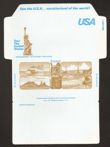 UC53a, UPSS #ALS-19b 30c Brown Liberty, UNFOLDED, Missing Red