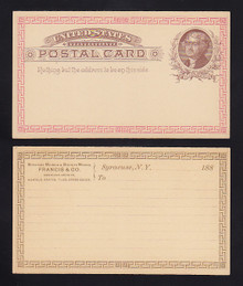 UX8 Syracuse, New York UNUSED with Printed Border Front & Back, Illegal