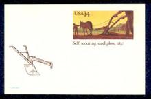 UX115 UPSS# S132 14c Self-Scouring Plow Mint Postal Card