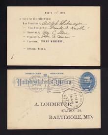 UX11 New York, New York 1897 Ballott