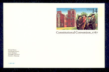 UX116 UPSS# S133 14c Constitutional Convention Mint Postal Card