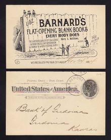 UX12 Claremore, Indian Territory SALESMAN'S Calling Card Flat Opeing Books