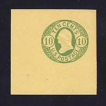 U41 10c Green on Buff, Mint Cut Square, 50 x 50