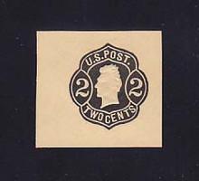 U50 2c Black on Buff, die 3, Mint Cut Square, 38 x 35