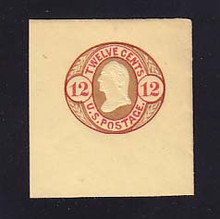 U42 12c Red and Brown on Buff, Mint Full Corner, 45 x 48
