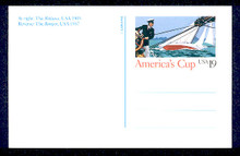 UX163 UPSS# S176 19c America's Cup Picture Mint Postal Card