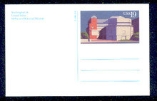 UX168 UPSS# S181 19c Holocaust Museum Picture Mint Postal Card