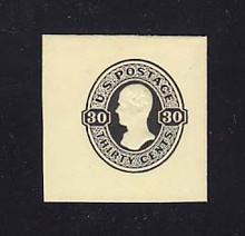 U103 30c Black on Amber, Mint Full Corner, 40 x 42