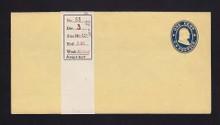 W20 UPSS # 34A-0 1c Blue on Buff, die 1, Mint Wrapper