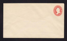 U26 UPSS # 50 3c Red on white Mint Entire