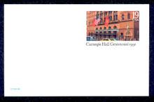 UX154 UPSS# S167 19c Carnegie Hall Mint Postal Card