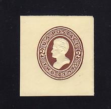 U133 2c Brown on Amber, die 3, Mint Cut Square, 40 x 43
