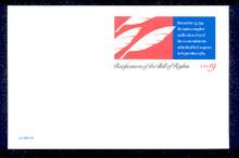 UX156 UPSS# S170 19c Bill of Rights Mint Postal Card