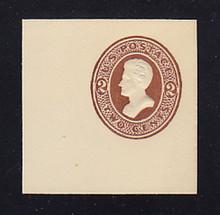 U128 2c Brown on White, die 2, Mint Cut Square, 48 x 48