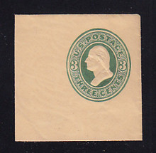 U165 3c Green on Cream, die 2, Mint Full Corner, 50 x 50